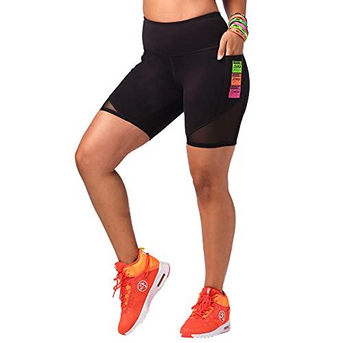 Zumba Dance Fitness Biker - Pantalones cortos de ciclismo para mujer, Blackout., XL