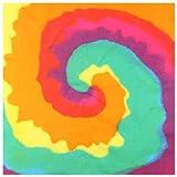 GROOMY Square Scarf, Bohemian Tie-Dye Gradient Bandana Head Wrap Rainbow Swirl Square Scarf Wristband-7