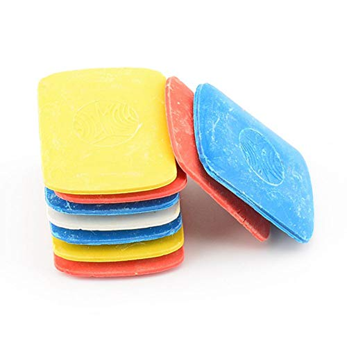 Schneiderkreide, weiß, gelb, rot und blau, Nähmarkenstift für DIY Handwerk Marker, Schneidernäh-Markierung und Studenten Zeichnen (10 Stück)