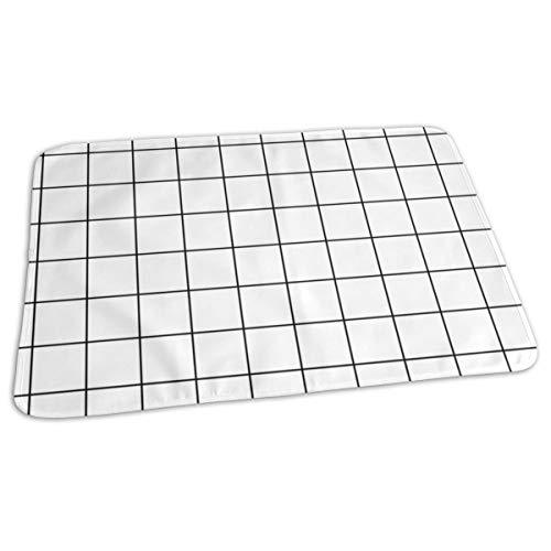 Zwarte en witte ruiten vierkant check grafiek papier bed pad wasbaar waterdichte urine pads voor baby peuter kinderen en volwassenen 27.5 x19.7 inch