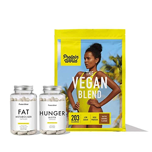 Protein World - Vegan Collection - Weight Loss and Weight Management Vegan Supplements & Diet Shake Selection Salted Caramel