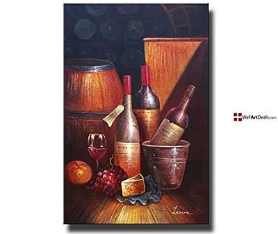 Modern Framed Brown Barrel Fermented Wall Art Oil Painting 1 Piece