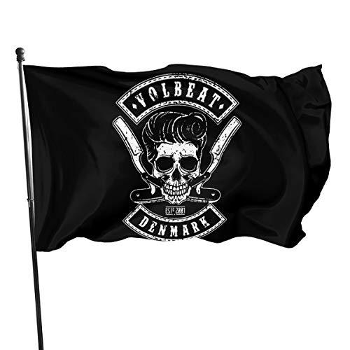 Paoseven Volbeat Decorative Garden Flags, Outdoor Artificial Flag for Home, Garden Yard Decorations 3x5 Ft