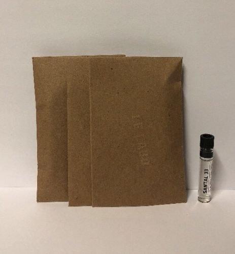 3 Le Labo Santal 33 Eau de Parfum Sample 0.025 oz/0.75 ml Vial Spalsh