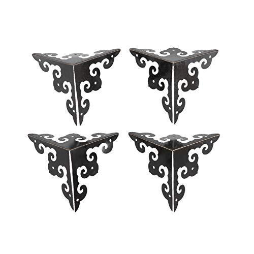 DUO ER 4Pcs 50mm Furniture Decorative Corner Antique Jewelry Gift Wood Box Feet Leg Corner Protector Retro Case Edge Protection Cover