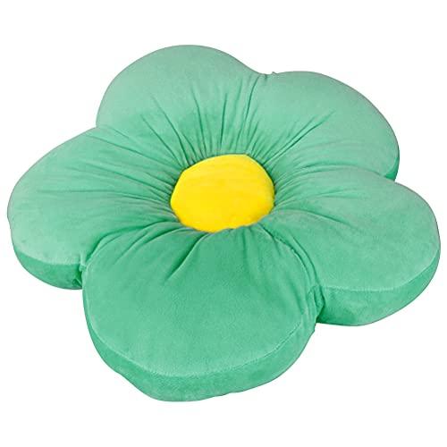 Blumenboden Kissen, 50cm Blumenförmiges Plüsch Tatami Stuhl Kissen, Korb Sofa Stuhl Kissen Blumenform Sitzpolster, Bodenkissen Dickes Plüschkissen für eine Leseecke