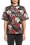 Camiseta Estampa Floral, Colcci Fitness, Feminino, Preto/Off/Bordo/Verde/Amarelo, P
