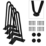 "Orgerphy 10"" Black Heavy-Duty Hairpin Coffee Table Legs (4PCS) 