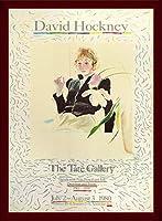ポスター デビット ホックニー 白い花と黒い目のセリア 額装品 ウッドベーシックフレーム(ブラウン)