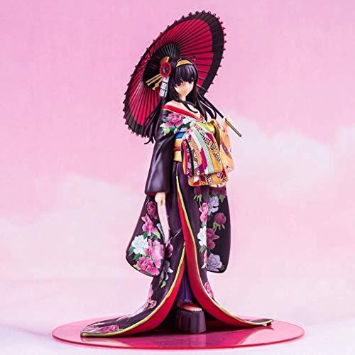 Saenai Heroine No Sodatekata Kimono Anime Girl Figure Toy Statue Kasumigaoka Utaha Japanese Anime Model PVC Static Character Statue Decoration Collection -26CM Toy Statue Ornament, Boxed