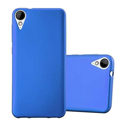 Cadorabo Hülle für HTC 10 Lifestyle/Desire 825 - Hülle in METALLIC BLAU – Handyhülle aus TPU Silikon im Matt Metallic Design - Silikonhülle Schutzhülle Ultra Slim Soft Back Cover Case Bumper