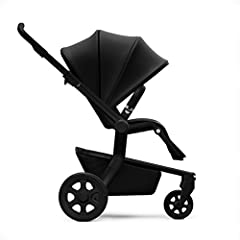 Premium stroller that accommodates children from 6 months to 50 pounds Features a fully reclinable seat; also includes extra-large sun hood and storage basket High-end fabric combined with brown leatherette details, a silver chassis, and black wheels...