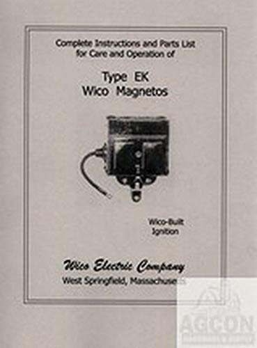 Wico Magneto Type Ek Service Instruction Manual Parts