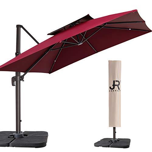 JEAREY 11FT Patio Umbrella Double Top Deluxe...