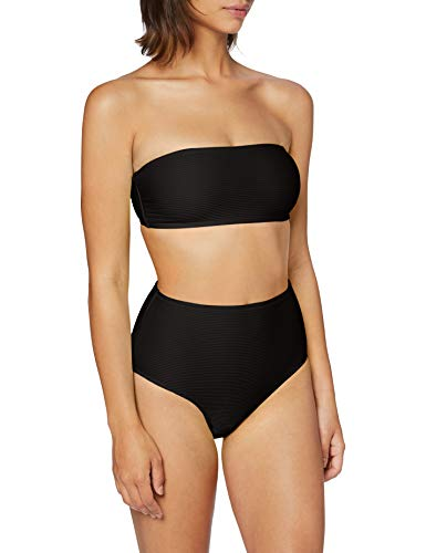 Urban Classics Damen Ladies High Waist Bandeau Bikini-Set, Black, XL