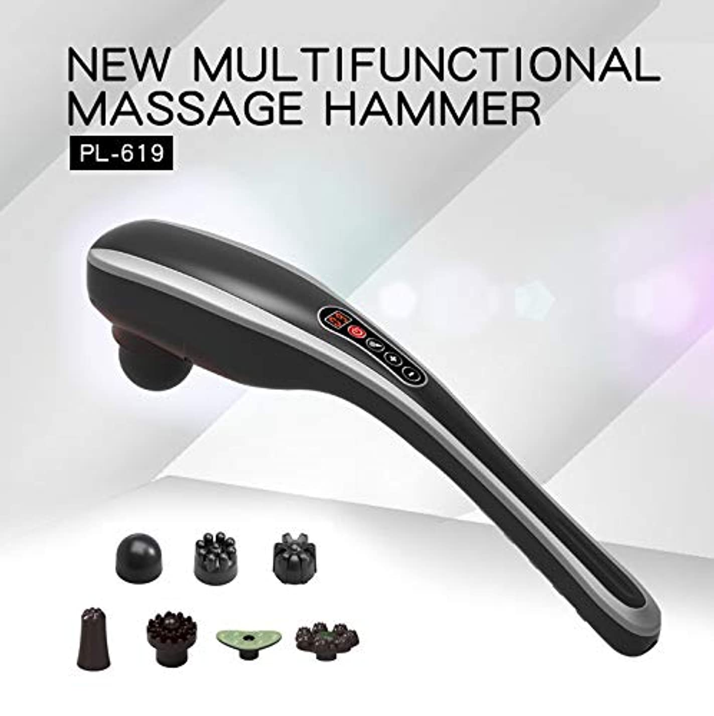 類推なぜ無マッサージャー充電式ハンディマッサージャー - 筋肉のためのワイヤレスエレクトリックパーカッションフルボディディープティッシュマッサージ、首、肩、背中、足、脚、ふくらはぎ,A