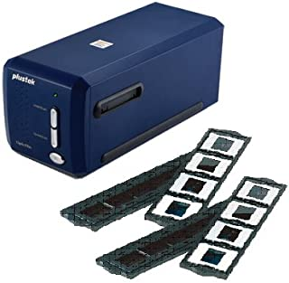 Plustek(オーグ) OpticFilm 8100 +追加フォルダーセット 高解像度フィルムスキャナー 白色LED採用 7200dpi USB接続 濃紺 OpticFilm8100