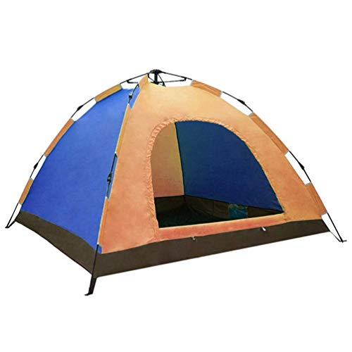 L-YINGZON Camping Tent Outdoor Tent Fully Automatic Spring Tent Single Layer Waterproof Oxford Fabric Glass Fiber Rods Ventilation 5-6 People for Beach,Outdoor,travel,hiking,camping, Hunting Outdoors