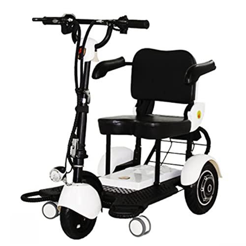 SMDD Triciclo eléctrico de Potencia Ultra-Alta 300W, Scooter de 48V, triciclos Plegables 12AH, Scooters asistidos de 24 km/h, Mini Mini vehículo de conducción Inteligente