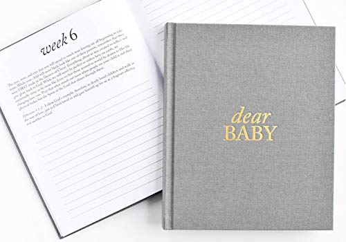Dear Baby: A Pregnancy Prayer Journal and Memory Book for Expecting Moms - Grey