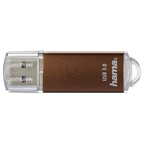 Hama 256GB USB-Stick USB 3.0 Datenstick (90 MB/s Datentransfer, USB-Stick mit Öse zur Befestigung am Schlüsselring, Speicherstick, Memory Stick mit Verschlusskappe, z. B. für Windows/MacBook) bronze