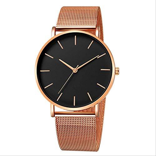 WFQ Armbanduhr Simplicity Moderne Quarzuhr Mesh Edelstahl Armband für Frauen Hohe Qualität Casual Armbanduhr für Frauen F