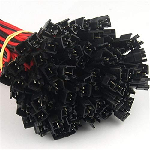 WFBD-CN Batterieklemmen Männliche und weibliche Steckklemme Kabelsteckeranschlusslinie for LED Downdeckenleuchte (Color : 20pcs)
