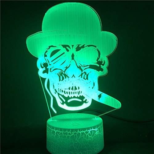 Preisvergleich Produktbild Zigarre Smartphone Best Indult Bestseller 3D LED Nachtlicht USB Tischlampe Kinder Geburtstagsgeschenk Nachttisch Dekoration