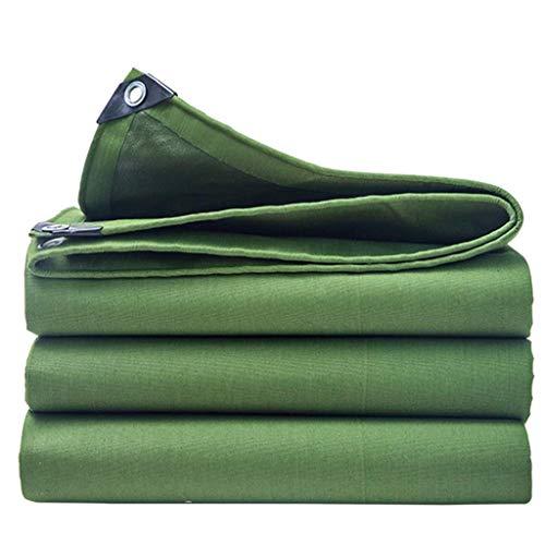 QIURUIXIANG - Lona resistente al agua de 2 x 3 m - Cubierta de lona verde - cubierta de calidad, hecha de lona de 600 g/m para camping al aire libre (tamaño: 13,1 & veces; 20 pies) QI-224