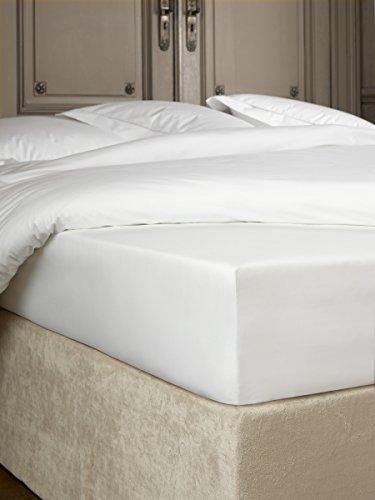 De Witte Lietaer Bumblebee Spannbettlaken, Perkal Luxe, Baumwolle, Weiß, 160x 200x 40cm