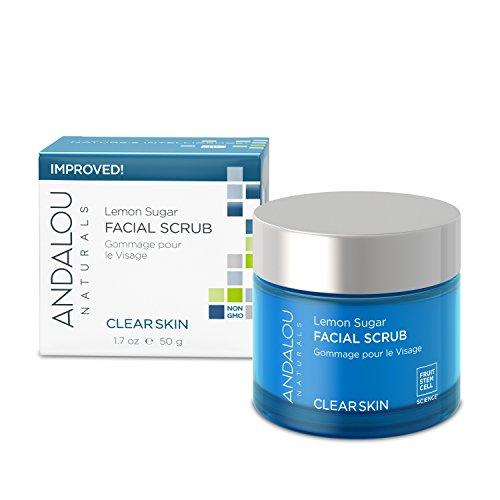 Andalou Naturals Clear Skin Lemon Sugar Facial Scrub, 1.7 Ounces