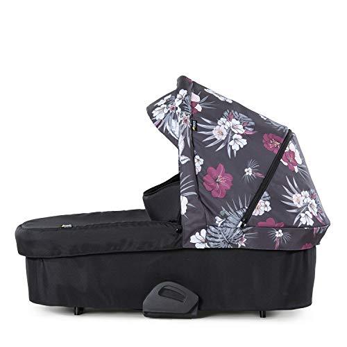 Hauck Baby Wanne für Kombi Kinderwagen Saturn R oder Mars / für Babys ab Geburt bis 9 kg / inklusive weiche Matratze / Fenster mit Belüftung / Stabil / Großes Sonnen Verdeck / Faltbar / Wild Blooms