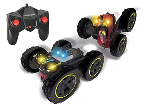 Dickie Toys 201119136 RC Tumbling Flippy, ferngesteuertes Spielzeugauto, Rotations und Flip Funktion, für draußen und drinnen, mit Fernbedienung, für Jungen und Mädchen, beleuchtet, ab 6 Jahren