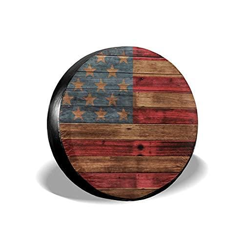 Suminla-Home Cubierta de repuesto para neumáticos de bandera americana, a prueba de polvo, para remolque, RV, SUV, camión y otros vehículos