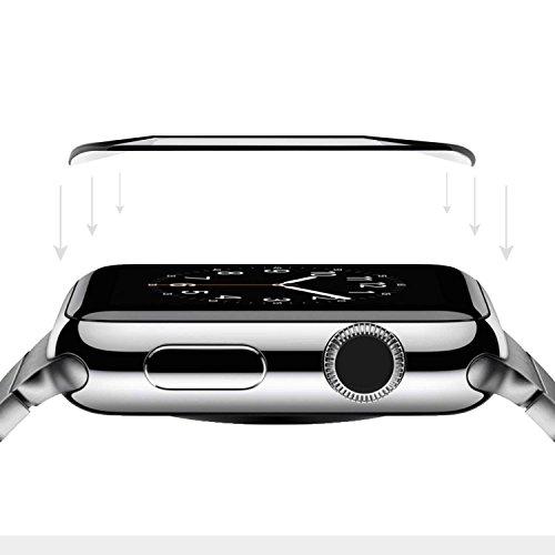 Simplecase Panzerglas passend zu APPLE Watch 40 3D , FULL SCREEN Premium Displayschutz , 100% Abdeckung , Optimaler Schutz , Extra Härtegrad 9H , Transparent - 1 Stück