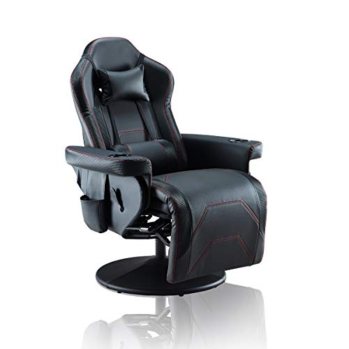 Depointer Life Ergonomic Gaming Chair Computer Game Chair with Headrest and Lumbar Support(Vibration),Black