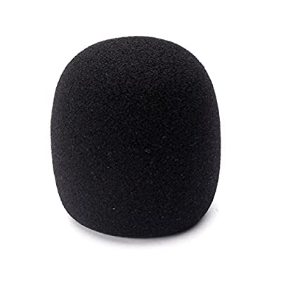 SUPVOX Professional microphone foam cover mic windscreens cap 40mm (black)
