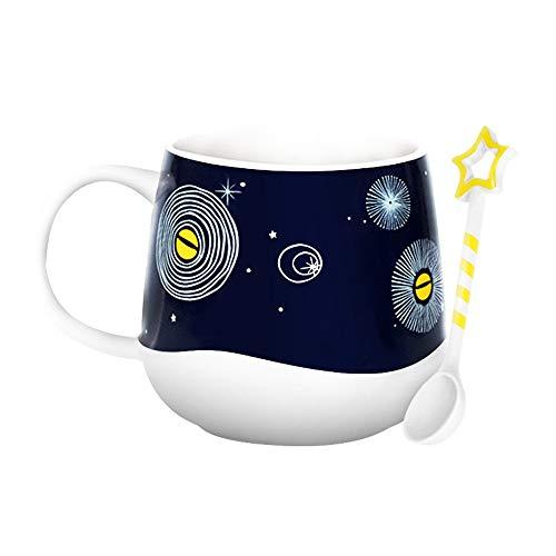 L-entcy 355 ml /12 oz taza de cerámica termocrómica taza de café combinación taza taza de café reutilizable taza de agua café cerámica arcilla porcelana té Latte 12 oz fácil de limpiar