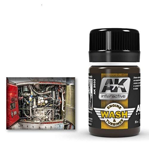 (AK02033) - AK Interactive Wash 35ml - Aircraft Engine Wash