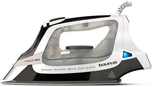 Taurus 918777000 2600-Plancha Vapor, Suela de Titanium, Ultra Deslizante, 160g/min, antigoteo, Sistema antical y Auto Limpieza, Punta de precisión, Plástico, Multicolor