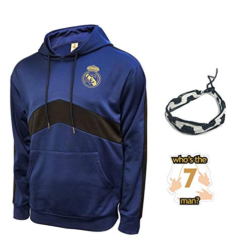 Real Madrid Hoodies for Boys Youth and Mens Adults Winter Soccer New Season Official Licensed Set RM7 (M, Adults Hoodie)