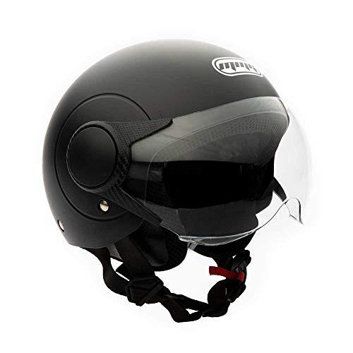 MMG Open Face Motorcycle Helmets Flip-up DOT Street Legal (MGAH25) (Matte Black, X-Large)