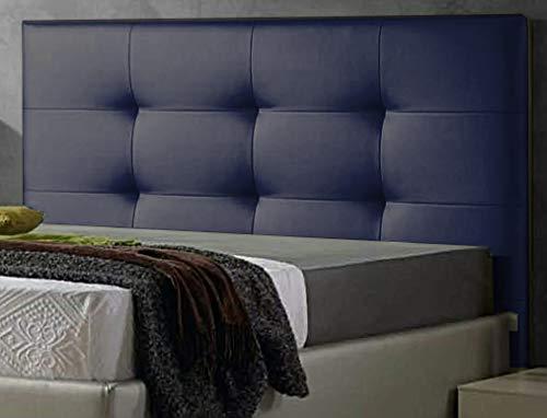 ED Cabecero Cama tapizado Polipiel Mod. Texas Todas Las Medidas y Colores (Azul, 165 * 70)