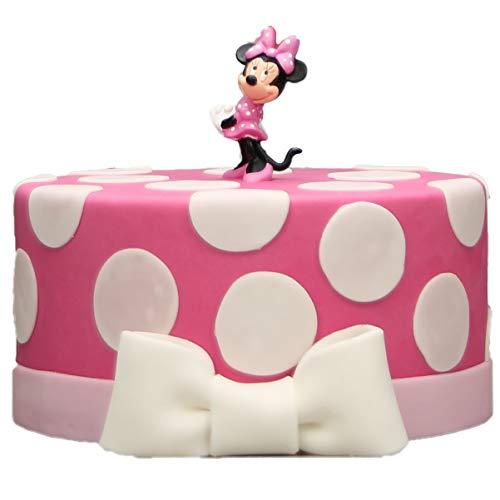 Minnie Maus auf Torte - Backbox mit Zubehör, Fondant, Backmischung uvm. Tortendeko Motivtorte Geburtstagstorte Geschenk