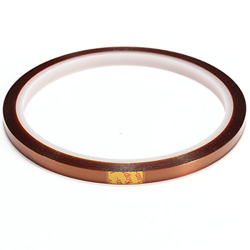 5mm X 100ft High Temperature Heat Resistant Kapton Tape polyimide 0.5cm