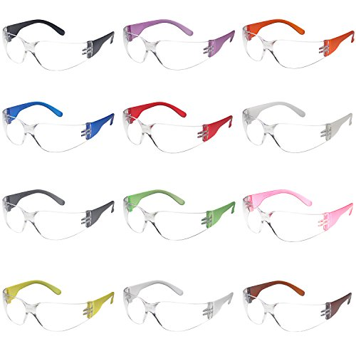 Safety Glasses 12x Assorted Protective Eyewear