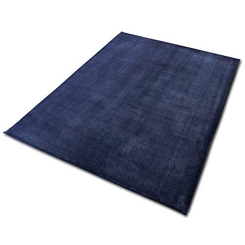 アイリスオーヤマ ラグ クッションラグ ブルー 185×240㎝ 厚さ3㎝ もちもち はっ水加工 遮音 滑り止め付き ACRB-1824