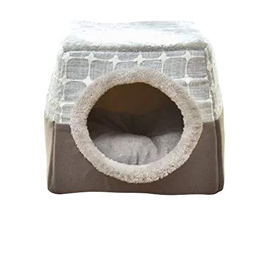 thematys Cueva del Gato I Cama para Gatos con Cojines Extra I Casa para Gatos Plegable I Cueva Convertible I Portátil y Resistente a los arañazos (Style 6, L (35 x 33 x 30 cm))