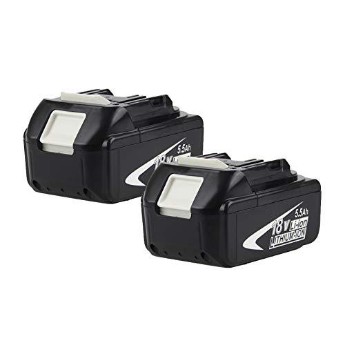 2 Pack 18V BL1860B batería de Repuesto batería 18 V BL1830 BL1840 BL1845 BL1815 BL1820 BL1860B LXT-400 18-Volt Ordless Power Tools...