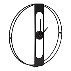 Kate and Laurel Urgo Modern Wall Clock, 22 Inch Diameter, Black, Wall Mounted Home Decor with Function